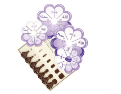 Clover flower frill templates and picot gauge set